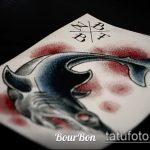Интересный вариант эскиза наколки АКУЛА – рисунок подойдет для тату полинезия акула