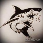 Оригинальный пример эскиза наколки АКУЛА – рисунок подойдет для тату акула молот