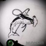 Зачетный пример эскиза тату АКУЛА – рисунок подойдет для тату акула спине