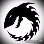 Прикольный пример эскиза наколки АКУЛА – рисунок подойдет для трайбл тату акулы