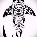 Зачетный пример эскиза наколки АКУЛА – рисунок подойдет для тату полинезия акула
