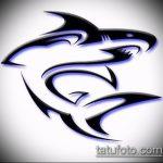 Классный вариант эскиза татуировки АКУЛА – рисунок подойдет для тату акула якоремтату акулы груди