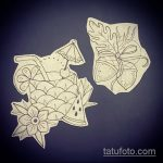 Зачетный вариант эскиза наколки АНАНАС – рисунок подойдет для tattoo ananas