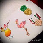 Крутой пример эскиза татуировки АНАНАС – рисунок подойдет для тату ананас на запястье