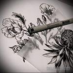 Зачетный вариант эскиза наколки АНАНАС – рисунок подойдет для тату ананас на пальце