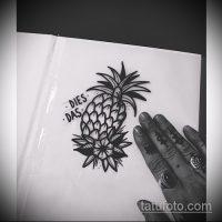 Эскизы тату ананас
