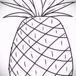 Уникальный вариант эскиза наколки АНАНАС – рисунок подойдет для tattoo ananas