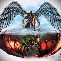 Эскизы тату ангел и демон