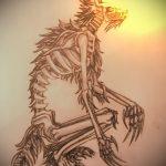 Классный пример эскиза наколки Анубис – рисунок подойдет для tattoo anubis