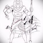 Зачетный пример эскиза тату Анубис – рисунок подойдет для тату анубис и гор