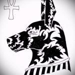 Оригинальный пример эскиза татуировки Анубис – рисунок подойдет для тату анубис и бастет