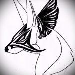 Классный вариант эскиза тату Анубис – рисунок подойдет для тату анубис в полный рост