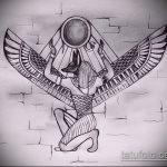 Уникальный пример эскиза тату Анубис – рисунок подойдет для тату анубис на руке