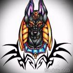 Зачетный вариант эскиза тату Анубис – рисунок подойдет для тату анубис на плече