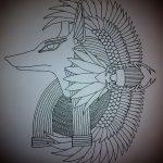 Крутой пример эскиза татуировки Анубис – рисунок подойдет для тату анубис и ракрест анубиса татутату анубис на спине