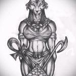 Крутой пример эскиза тату Анубис – рисунок подойдет для тату анубис с весами