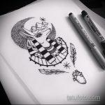 Уникальный вариант эскиза татуировки Анубис – рисунок подойдет для тату анубис на плече