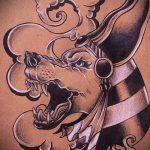 Крутой вариант эскиза татуировки Анубис – рисунок подойдет для тату анубис в цвете