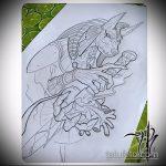 Оригинальный пример эскиза тату Анубис – рисунок подойдет для тату анубис в полный рост