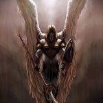 Классный пример эскиза тату Архангел Михаил – рисунок подойдет для тату архангел михаил на спине