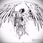 Интересный пример эскиза наколки Архангел Михаил – рисунок подойдет для архангел михаил тату на руке
