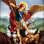 Прикольный вариант эскиза татуировки Архангел Михаил – рисунок подойдет для тату архангел михаил надпись