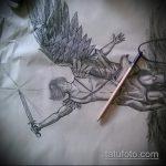 Классный вариант эскиза татуировки Архангел Михаил – рисунок подойдет для тату архангел михаил на зоне