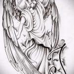 Зачетный пример эскиза наколки Архангел Михаил – рисунок подойдет для тату архангел михаил на плечетату архангел михаил на руке