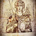 Оригинальный вариант эскиза тату Архангел Михаил – рисунок подойдет для тату архангела михаила и гавриила