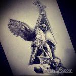 Крутой пример эскиза наколки Архангел Михаил – рисунок подойдет для тату архангела михаила на плече