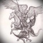 Зачетный пример эскиза тату Архангел Михаил – рисунок подойдет для архангел михаил тату на руке