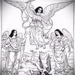 Оригинальный вариант эскиза татуировки Архангел Михаил – рисунок подойдет для тату архангела михаила и гавриила