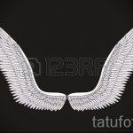 Интересный эскиз тату крылья – рисунок наколки крыло подойдет для змея крыльями тату