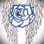 Интересный эскиз тату крылья – рисунок тату крыло подойдет для тату ангельские крылья на спине