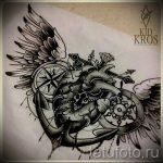Необычный эскиз татуировки крылья – рисунок наколки крыло подойдет для тату на грудине крылья