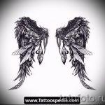Крутой эскиз тату крылья – рисунок тату крыло подойдет для эскиз тату ангел с крыльями
