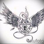 Классный эскиз тату крылья – рисунок наколки крыло подойдет для тату крылья ангела на спине у девушки