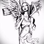 Крутой эскиз тату крылья – рисунок тату крыло подойдет для тату спине ангел крыльями фото