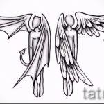 Необычный эскиз тату крылья – рисунок наколки крыло подойдет для тату крыло на запястье значение