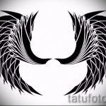 Крутой эскиз татуировки крылья – рисунок тату крыло подойдет для тату крылья на грудной клетке