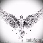 Интересный эскиз тату крылья – рисунок тату крыло подойдет для что обозначает тату крылья