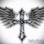 Необычный эскиз тату крылья – рисунок наколки крыло подойдет для красивые тату крылья