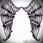 Интересный эскиз татуировки крылья – рисунок тату крыло подойдет для крыло ангела демона тату