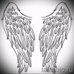 Интересный эскиз тату крылья – рисунок тату крыло подойдет для крыло на руке тату фото