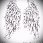 Крутой эскиз тату крылья – рисунок наколки крыло подойдет для дети крылья тату