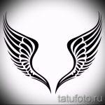 Интересный эскиз тату крылья – рисунок тату крыло подойдет для тату крылья у девушек фото