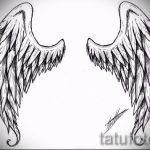 Классный эскиз тату крылья – рисунок наколки крыло подойдет для что означает тату крылья ангела