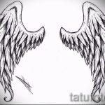 Необычный эскиз татуировки крылья – рисунок тату крыло подойдет для тату меч с крыльями значение