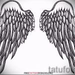 Крутой эскиз татуировки крылья – рисунок тату крыло подойдет для тату крылья маленькие