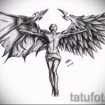 Классный эскиз тату крылья – рисунок наколки крыло подойдет для тату крыло на плече